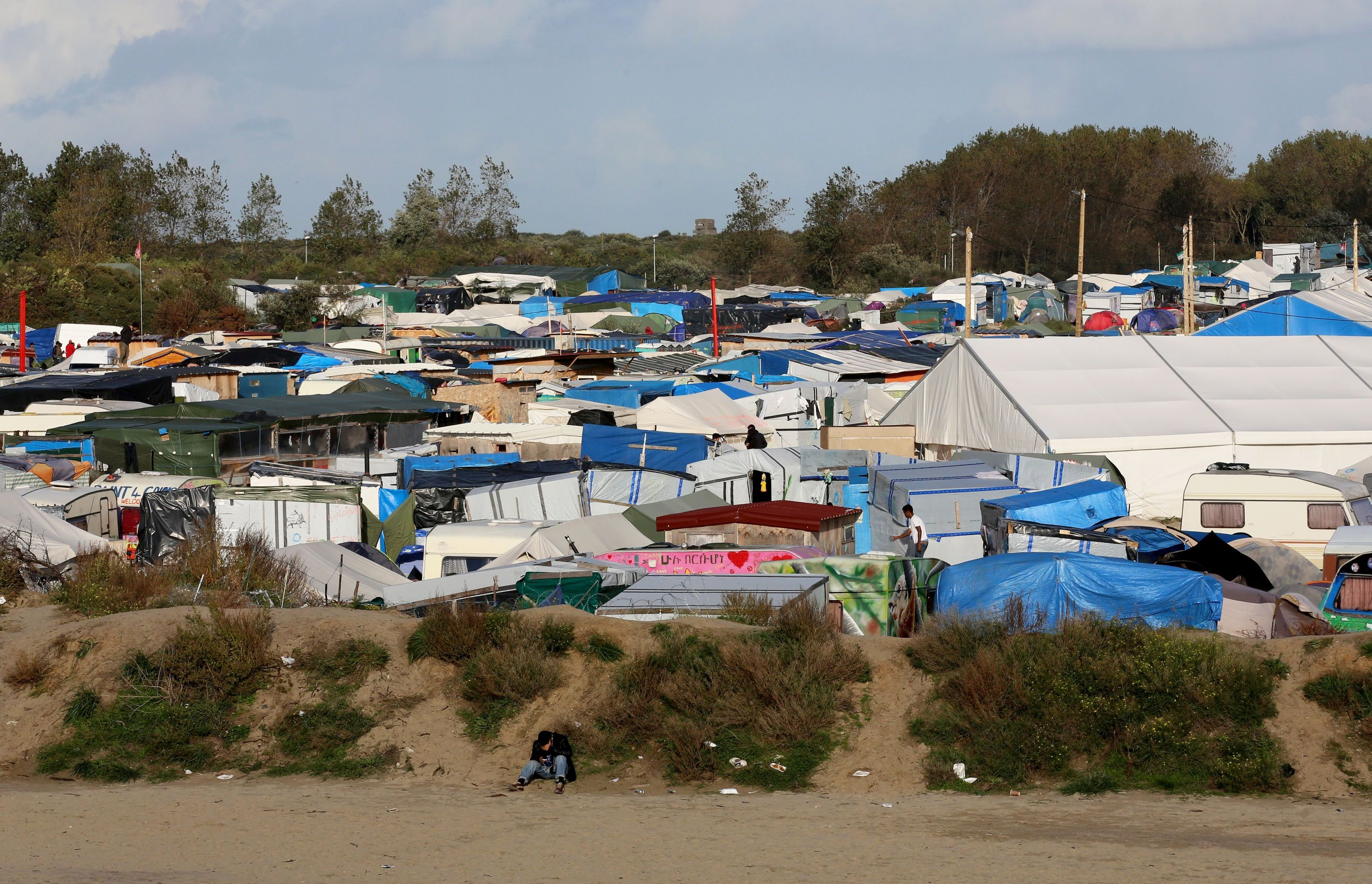 The migrant camp in Calais.