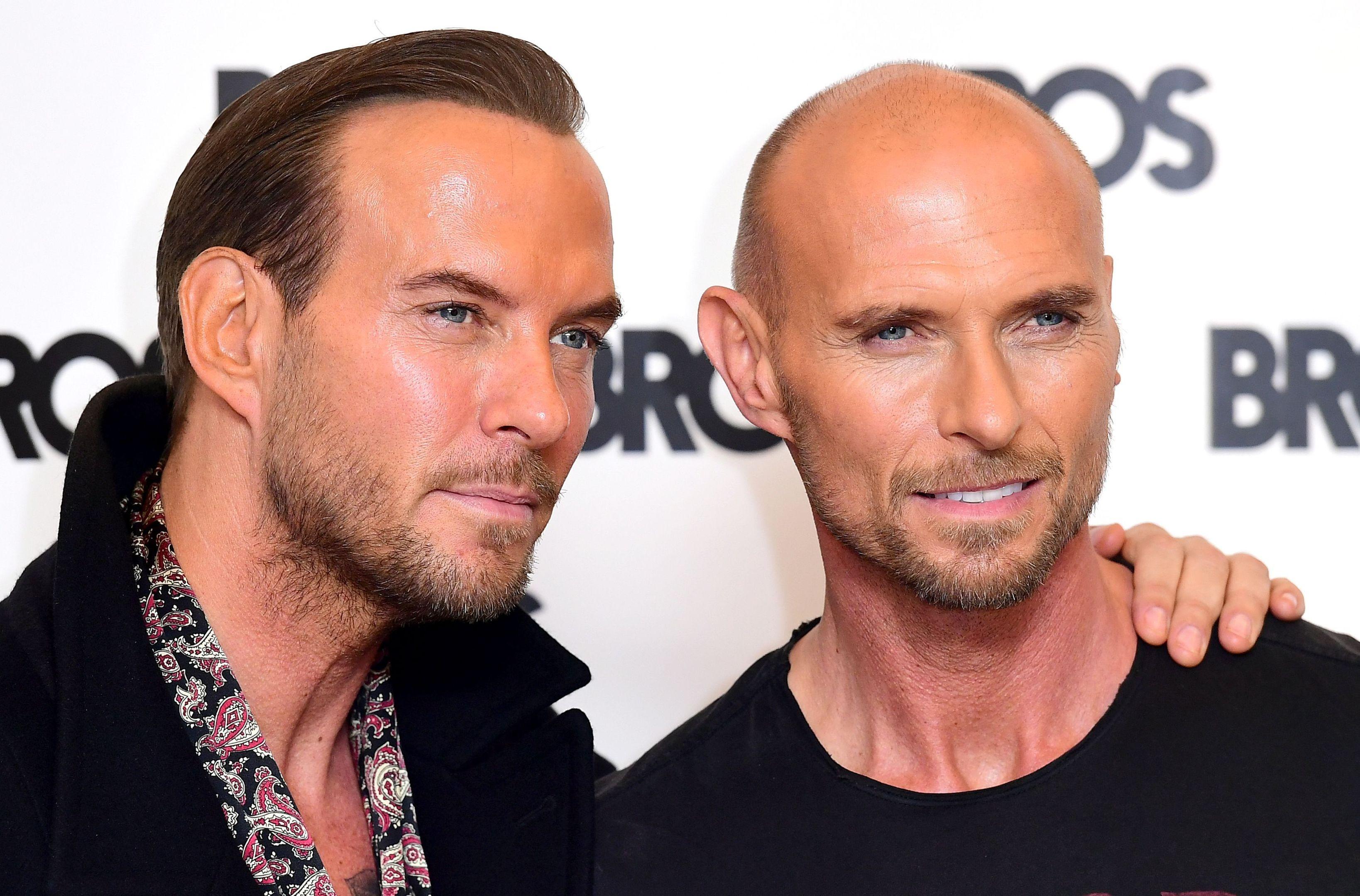 Bros legends Matt and Luke Goss.