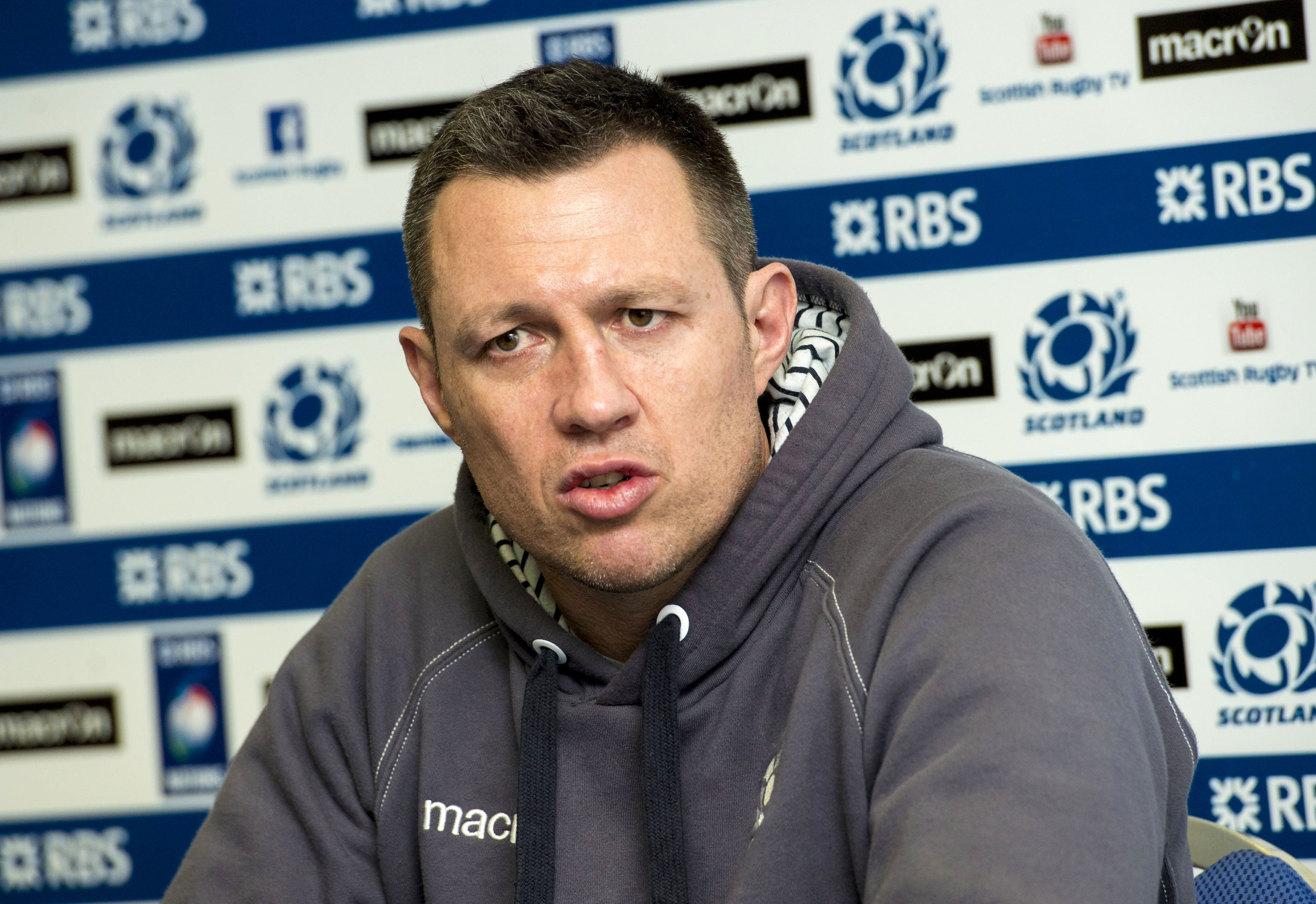 Scotland defence coach Matt Taylor.