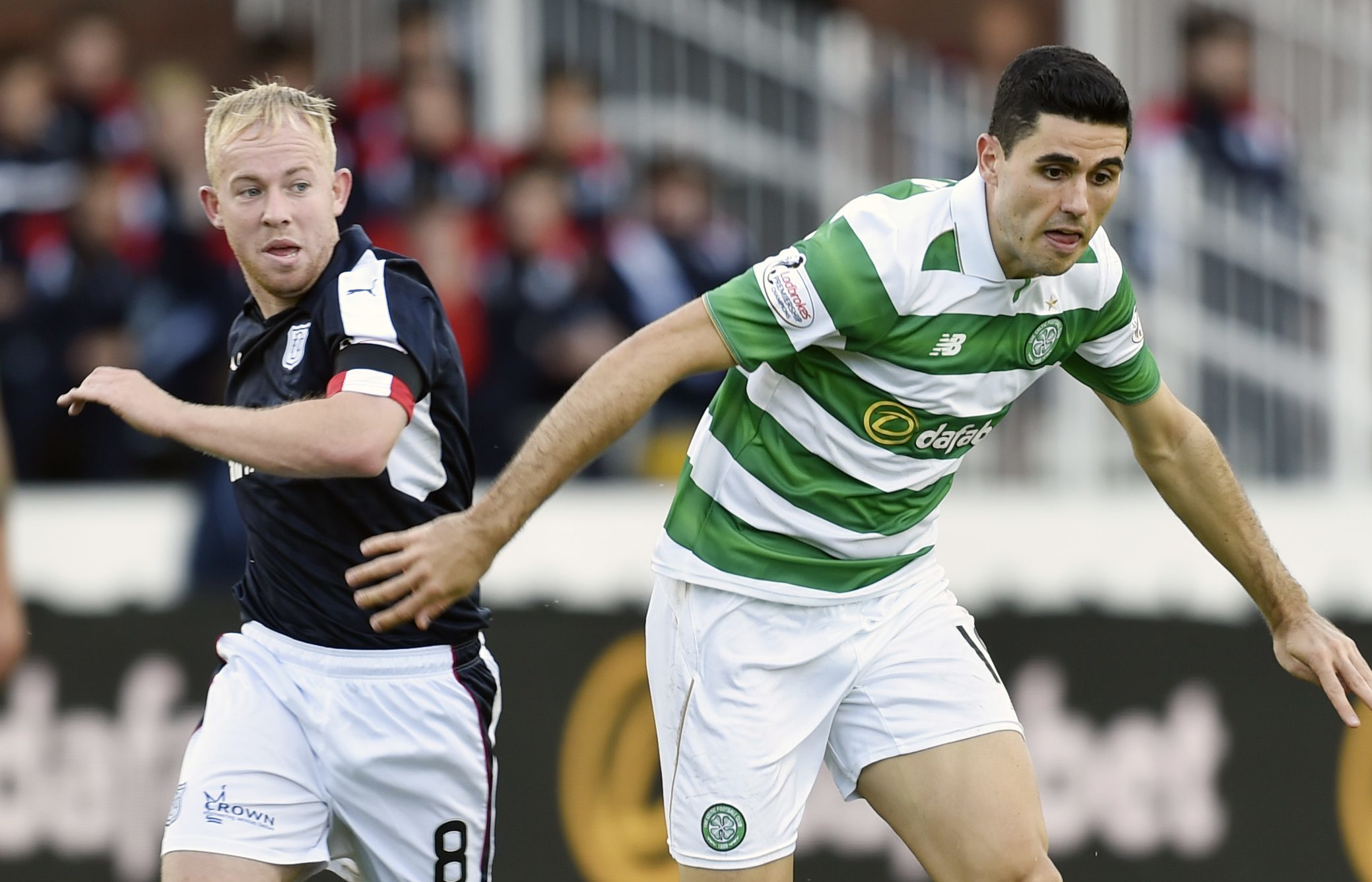 Nicky Low in action against Celtic.