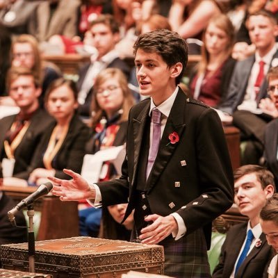 Ewan McCall in action with the Scottish Youth Parliament