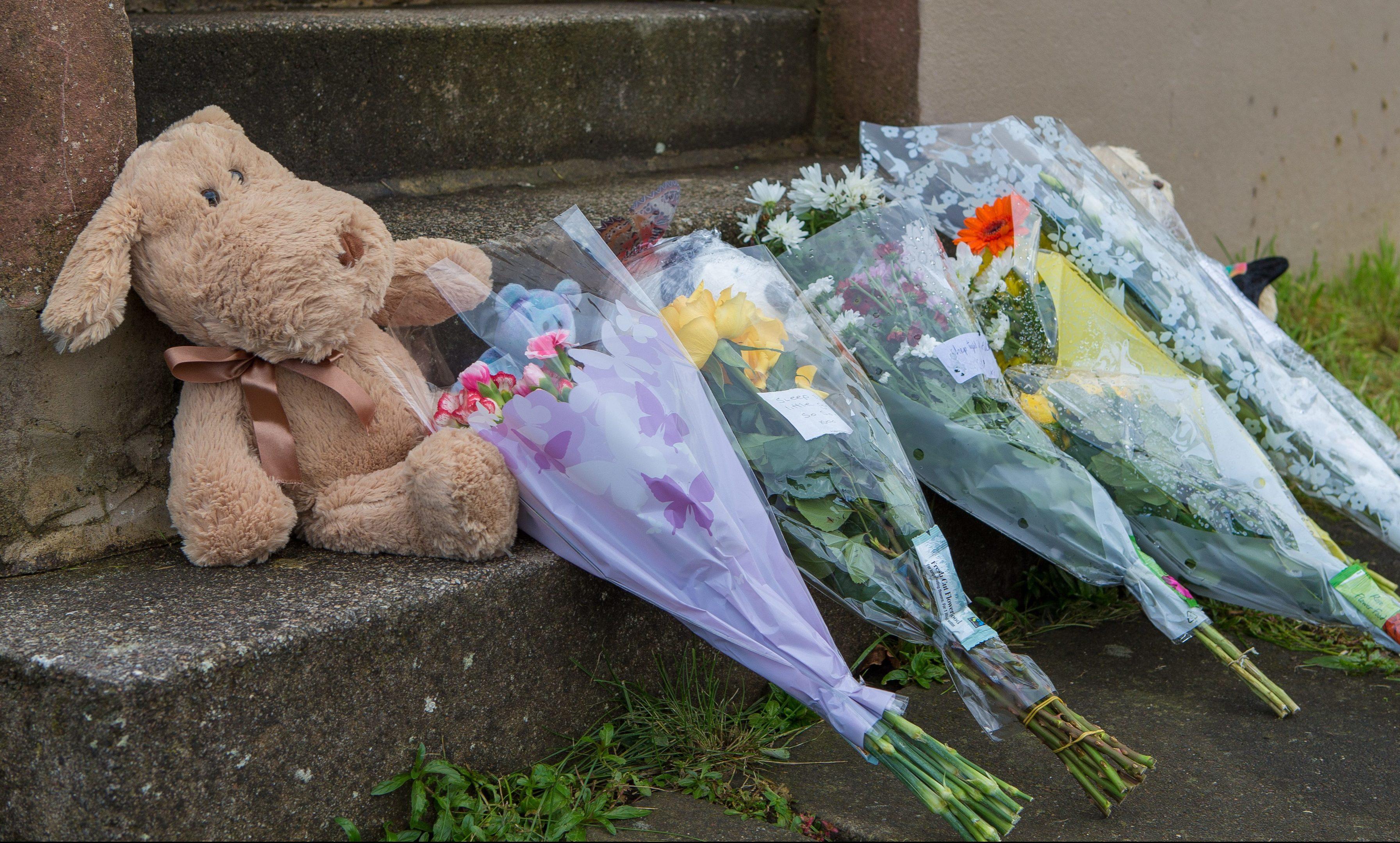 Tributes left on the doorstep.