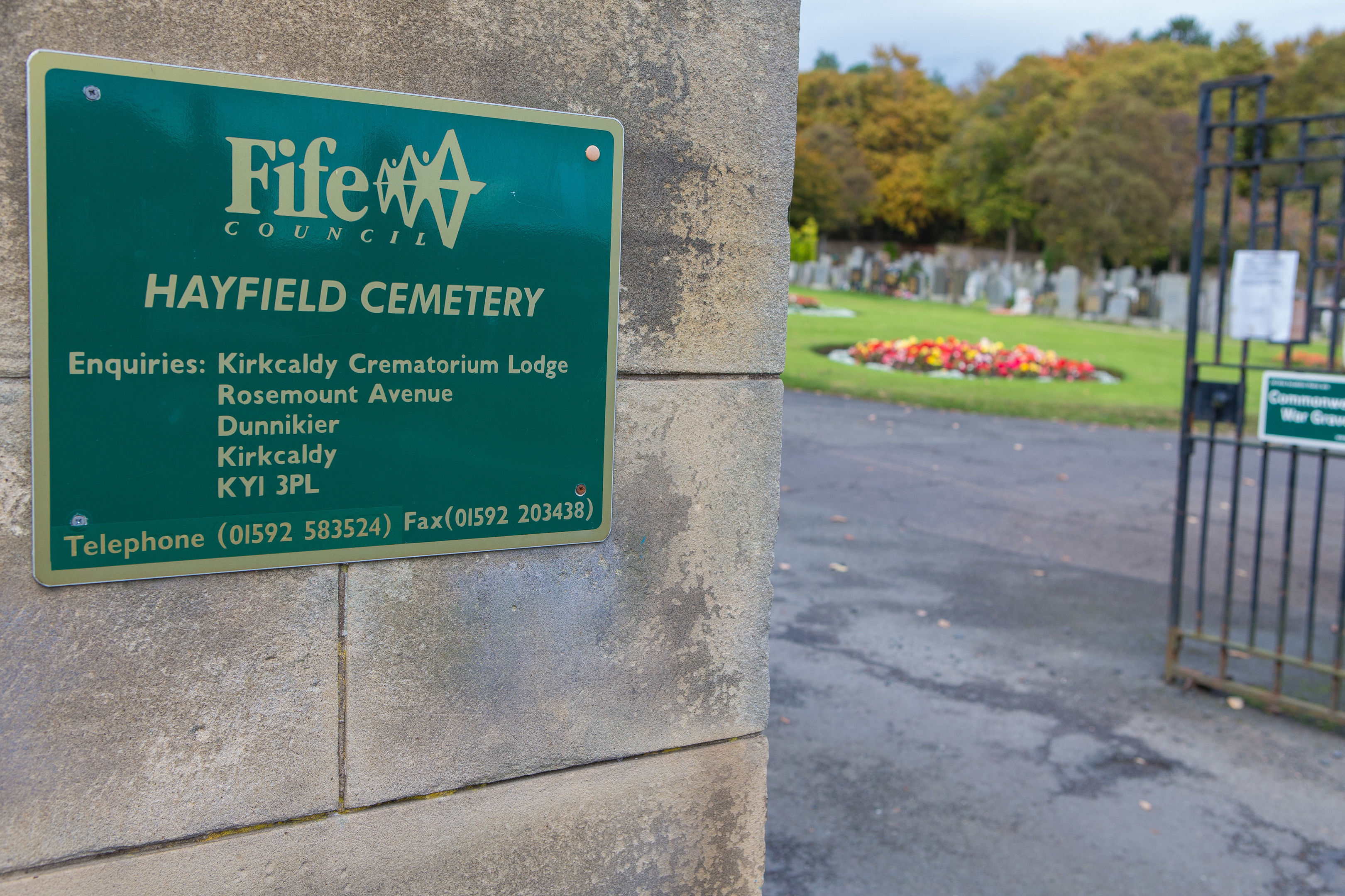 Hayfield Cemetery in Kirkcaldy