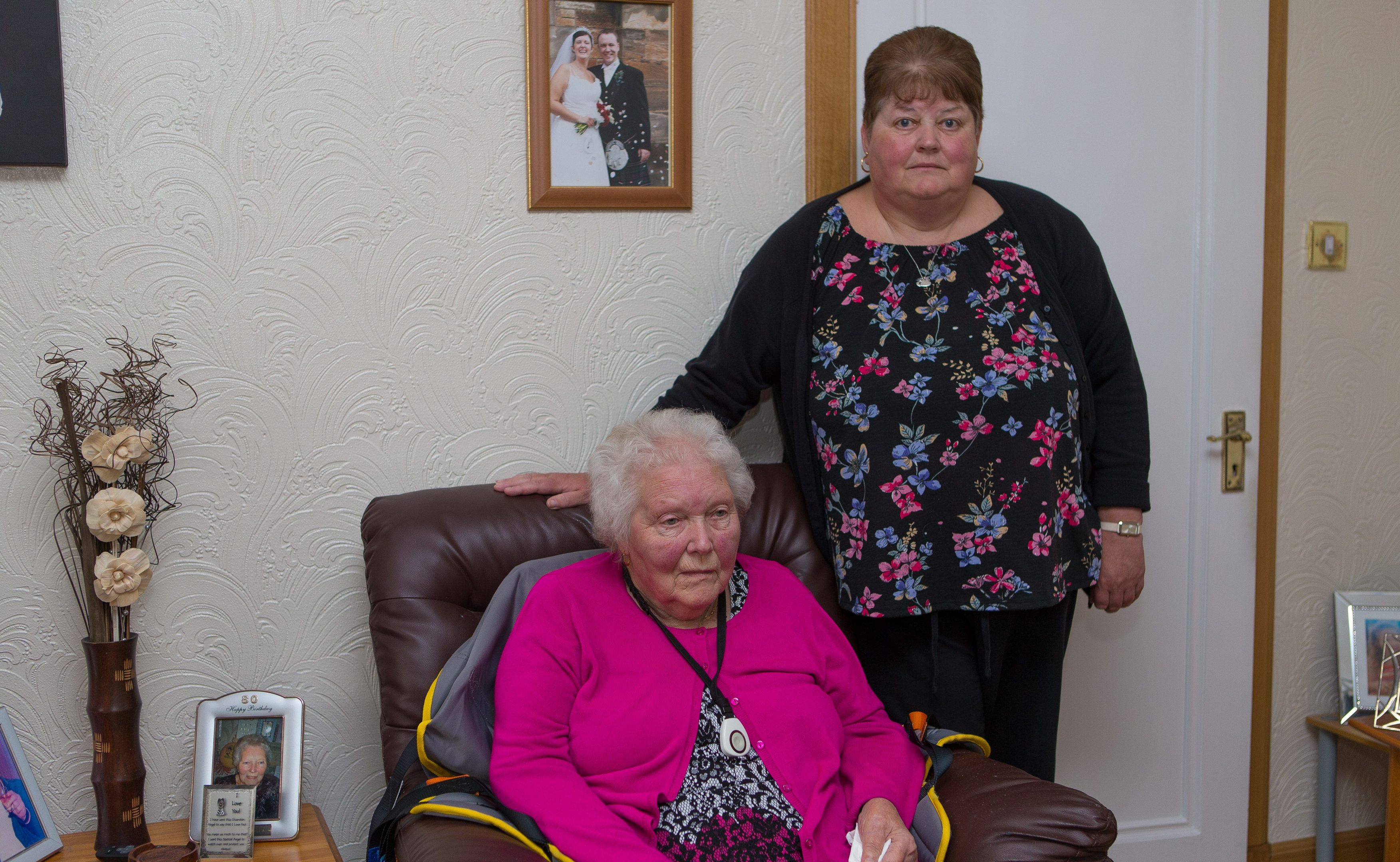 Mrs Betty Findlay with daughter Jane