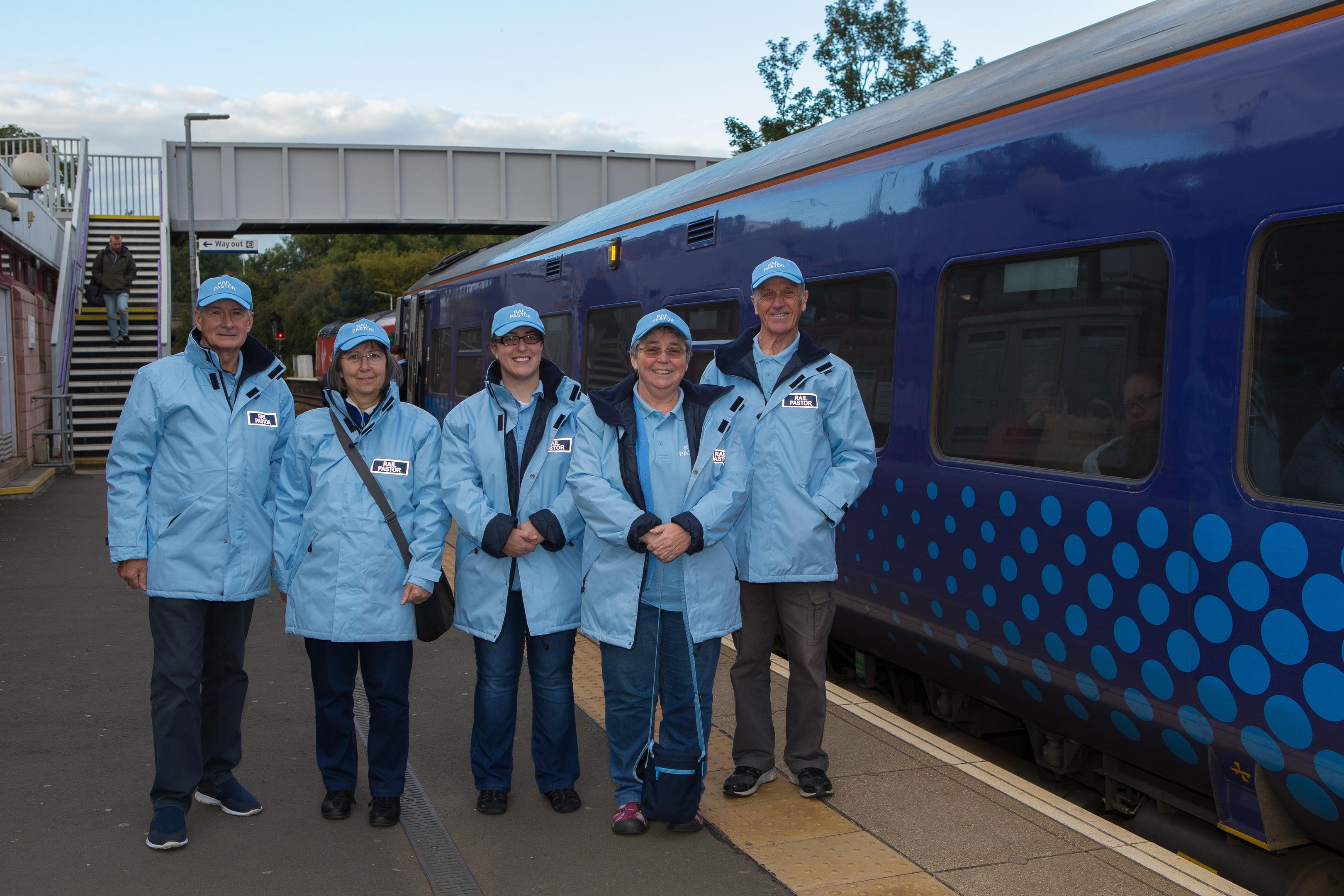 Rail Pastors at Inverkeithing Train Station.