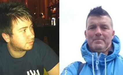Andrew Frame (left) and William Strange