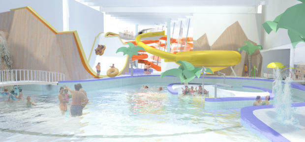 Graphic of planned PH2O swimming pool.