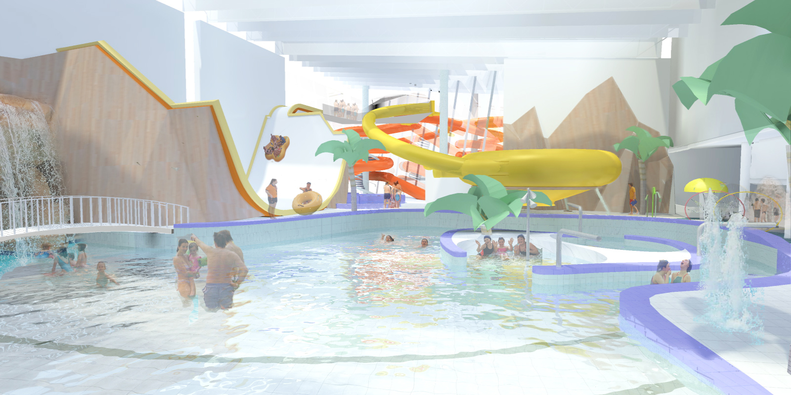 A graphic of the proposed swimming pool of the PH2O project.