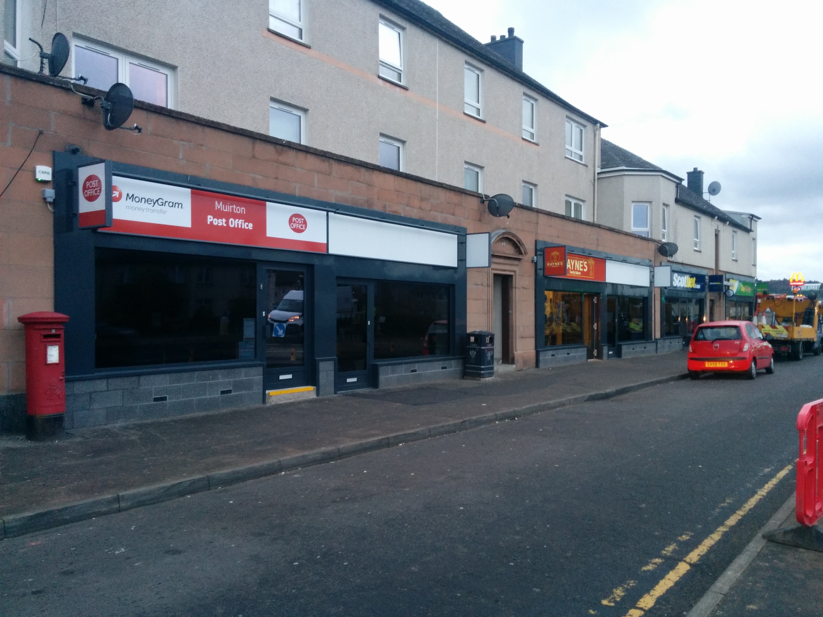 The shops in Muirton, Perth, have had their frontage upgraded.