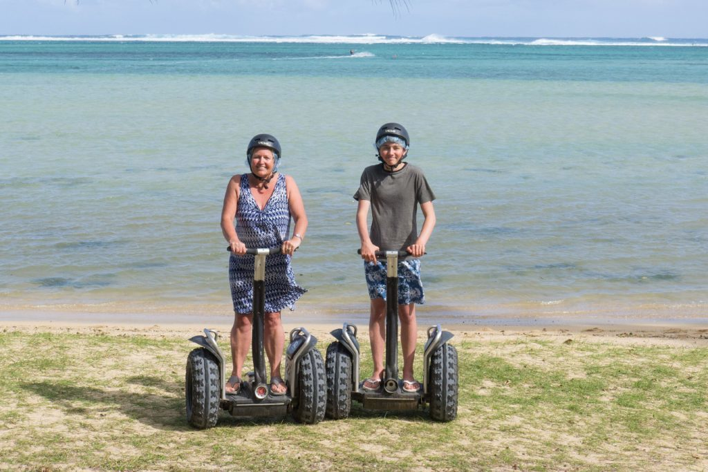 Hannah and Will trying Segway.