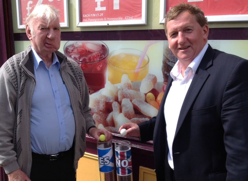 Willie with depute Scottish Labour leader and former Fife Council leader Alex Rowley
