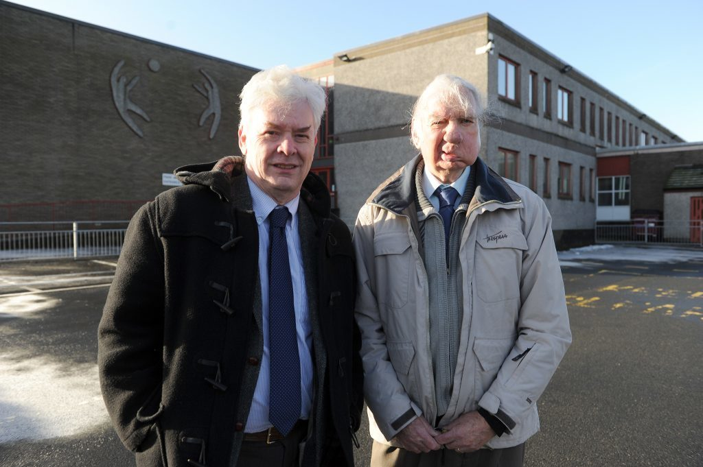 Independent Fife councillors Bryan Poole and Willie Clarke pictured in Jabnuary 2015 when they launched their independent Fife Council budget roadshow