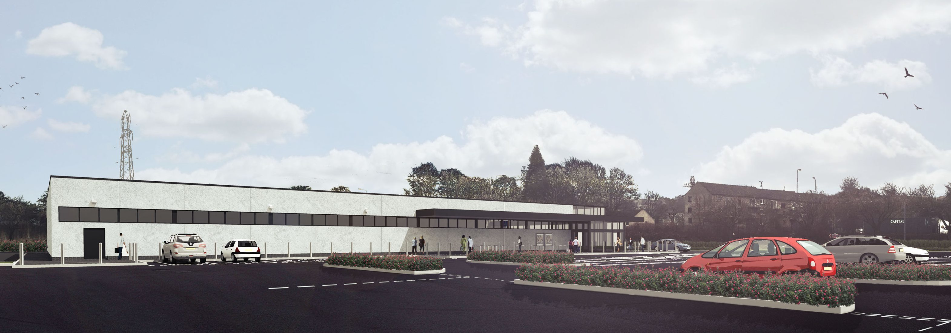 CGI of the proposed new Aldi store at Myrekirk