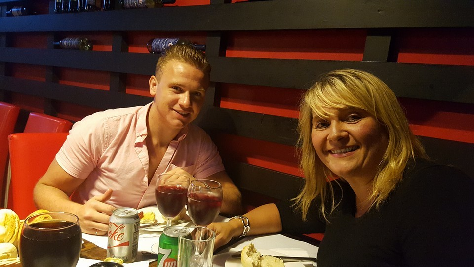 Corrie McKeague with his mother Nicola Urquhart.