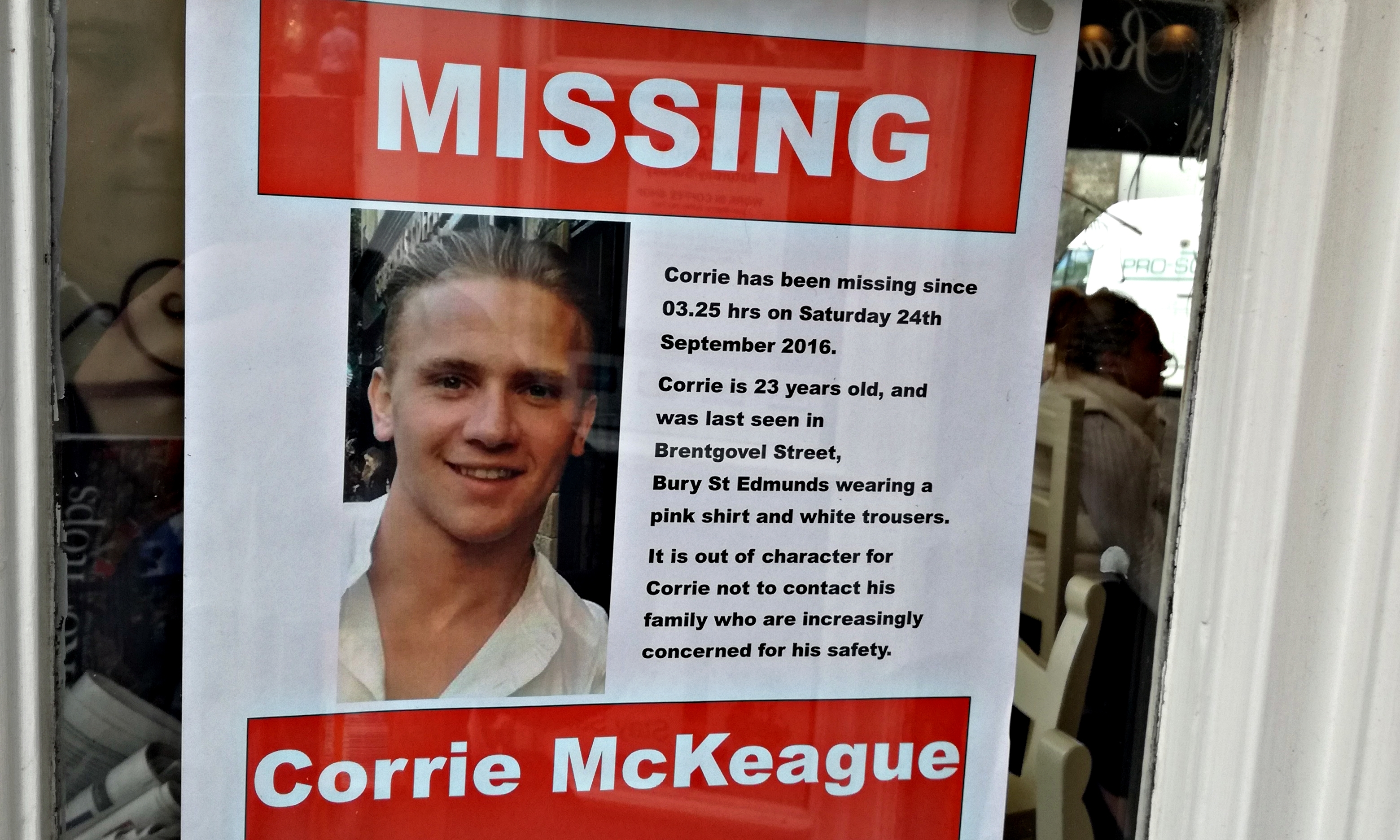Bury St Edmunds has rallied together to help try and find missing Corrie.