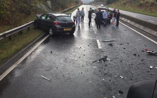 Drivers were warned to avoid the area following the crash