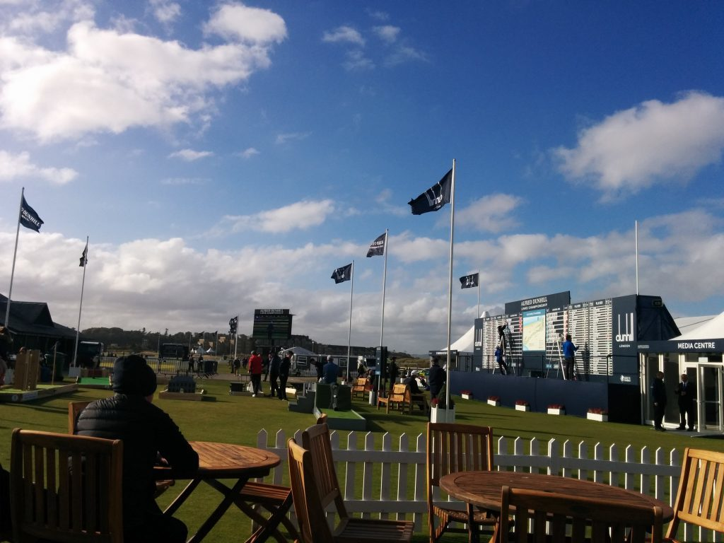 The tented village at the Dunhill in St Andrews