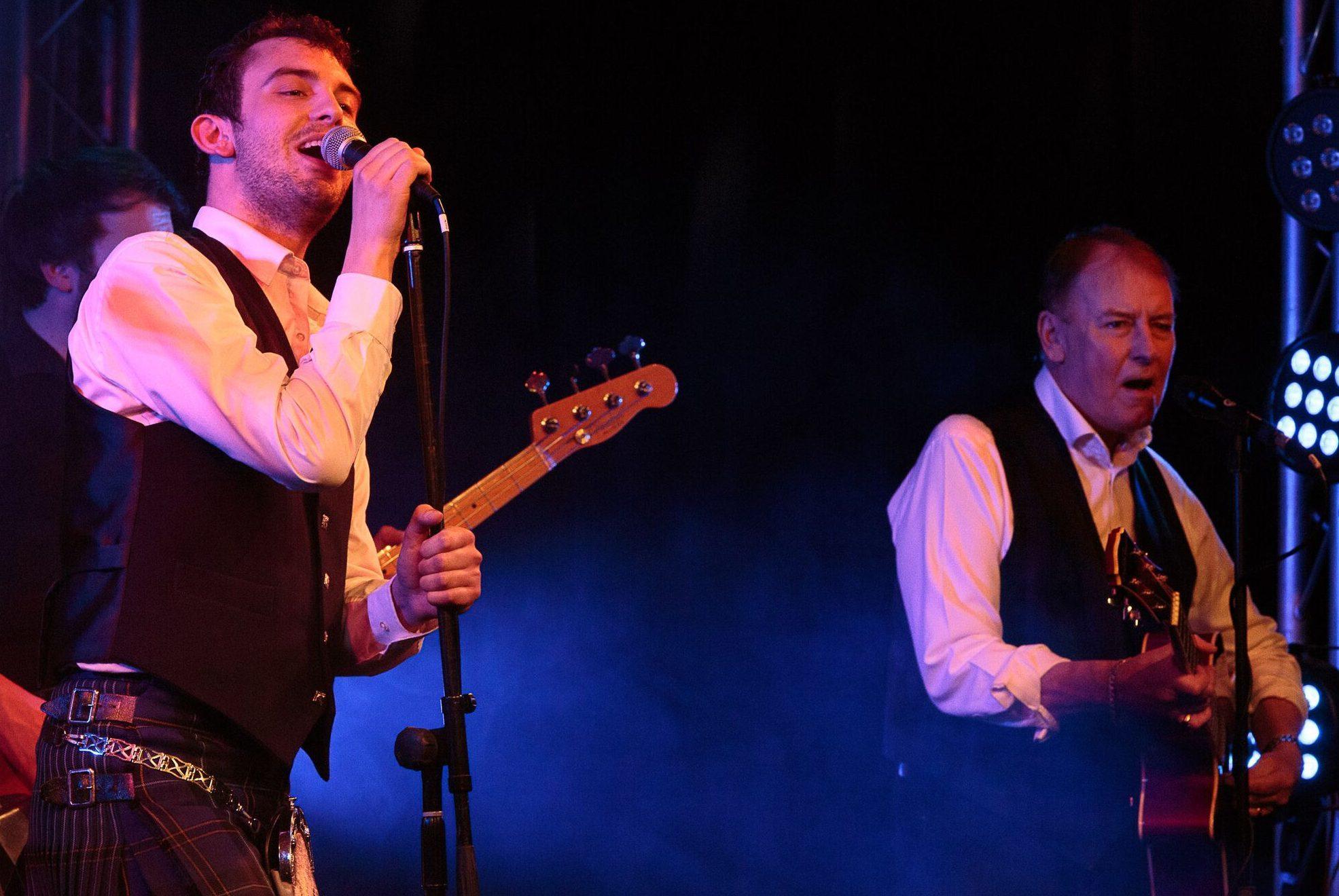 Craig on stage with Alan Longmuir