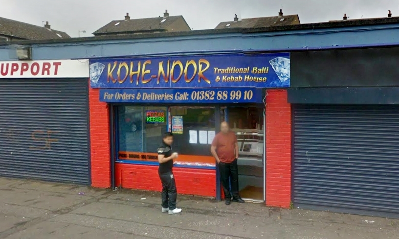 The Kohe-Noor takeaway in Kirkton. (library image)