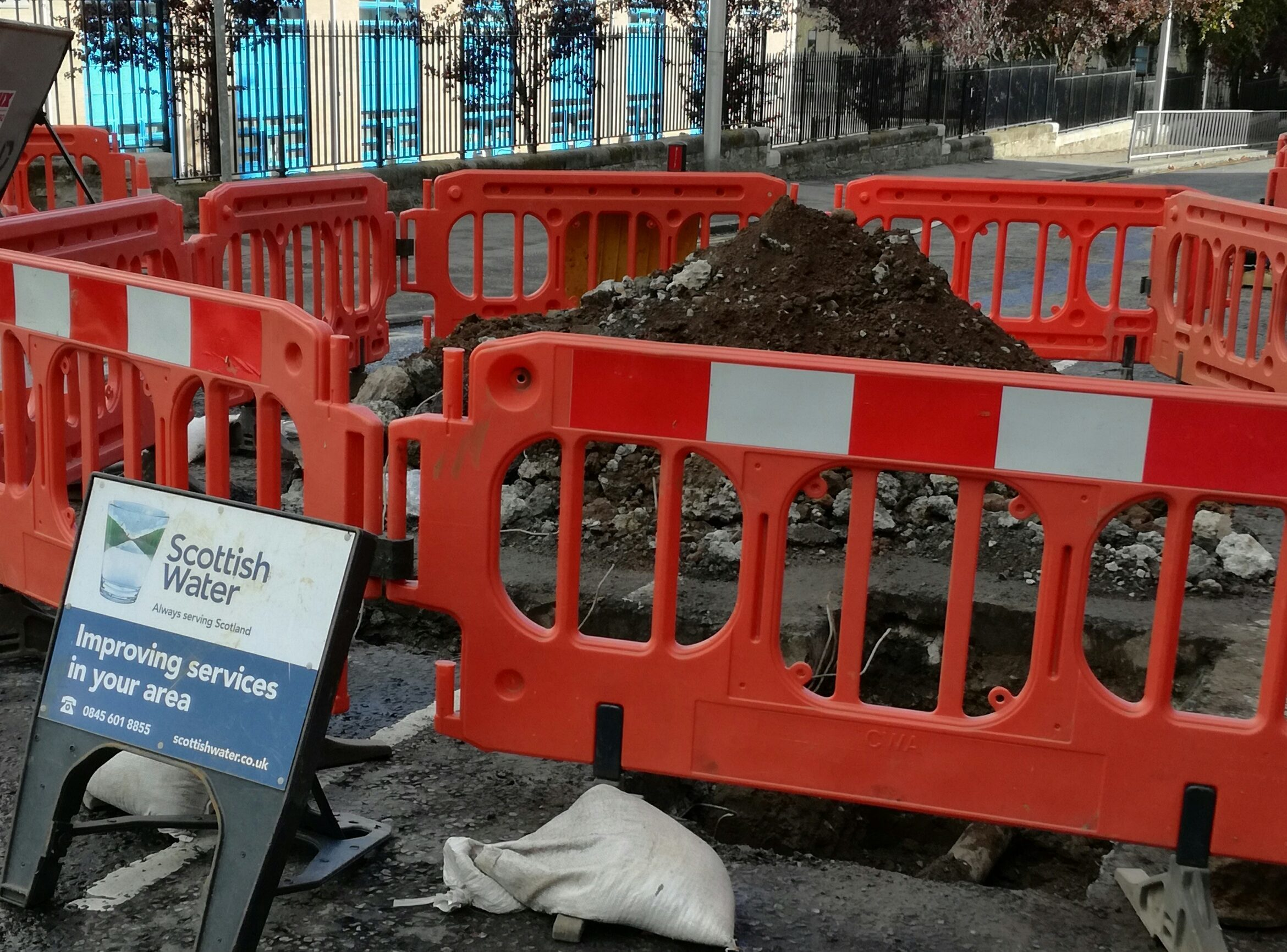 The next stage of works will begin on October 17, say Scottish Water.
