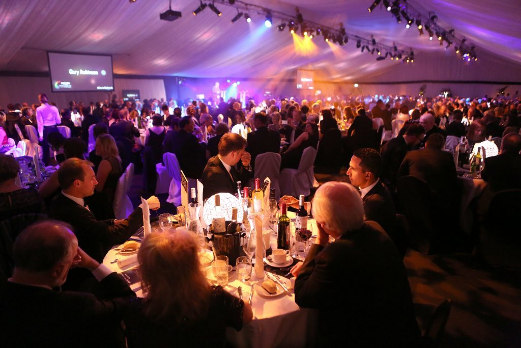 A specially-constructed marquee welcomed the 700 guests.