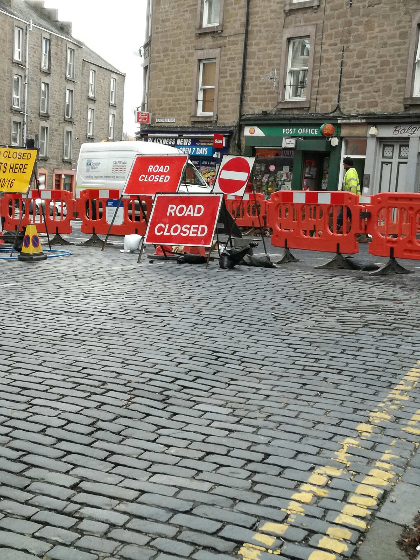 Businesses are suffering because of ongoing roadworks on streets like Blackness Road.