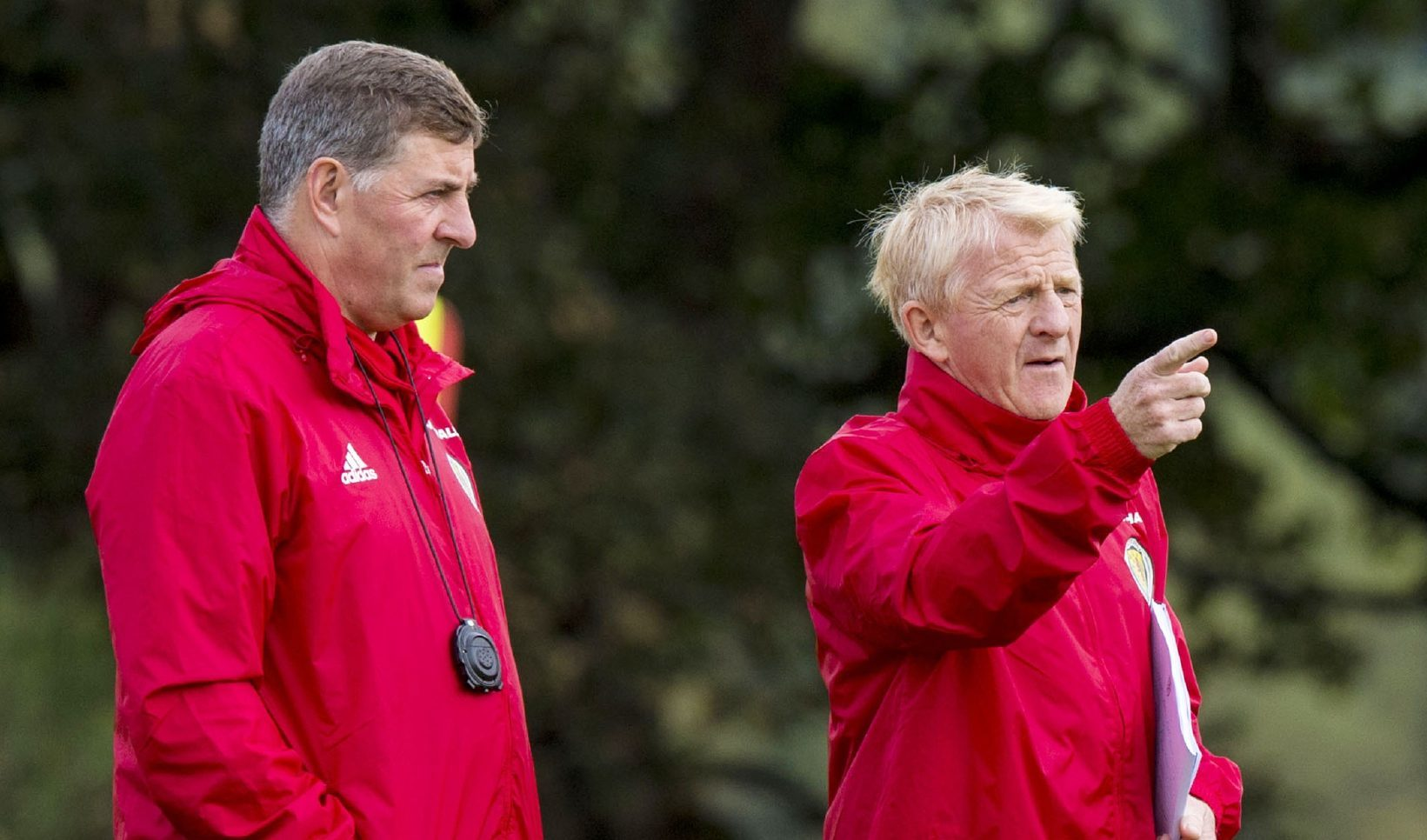 Mark McGhee and Gordon Strachan.