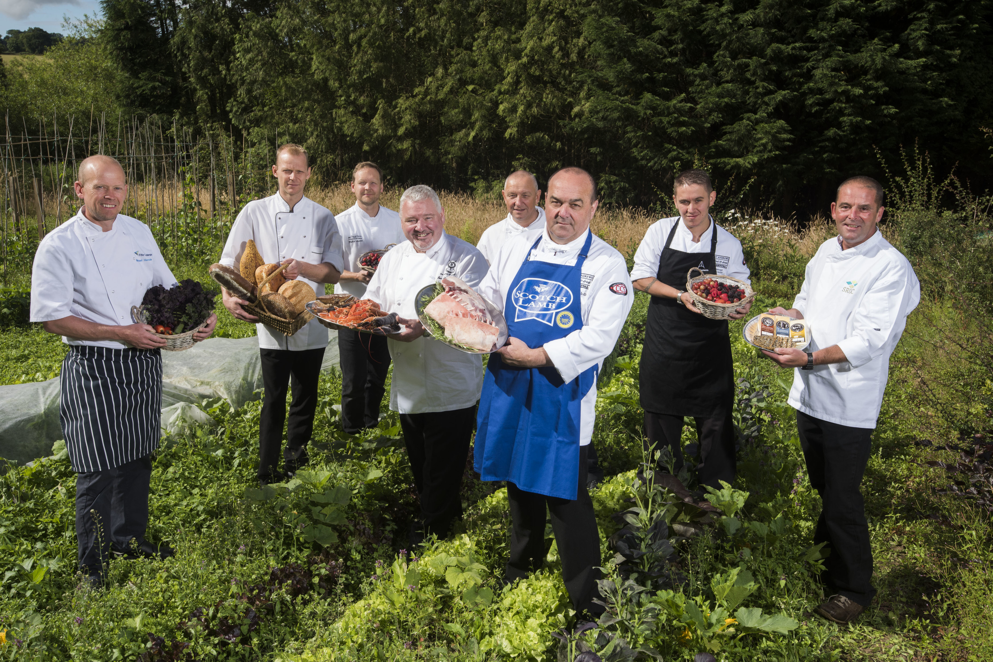 Six Scottish chefs have worked together to create the meal