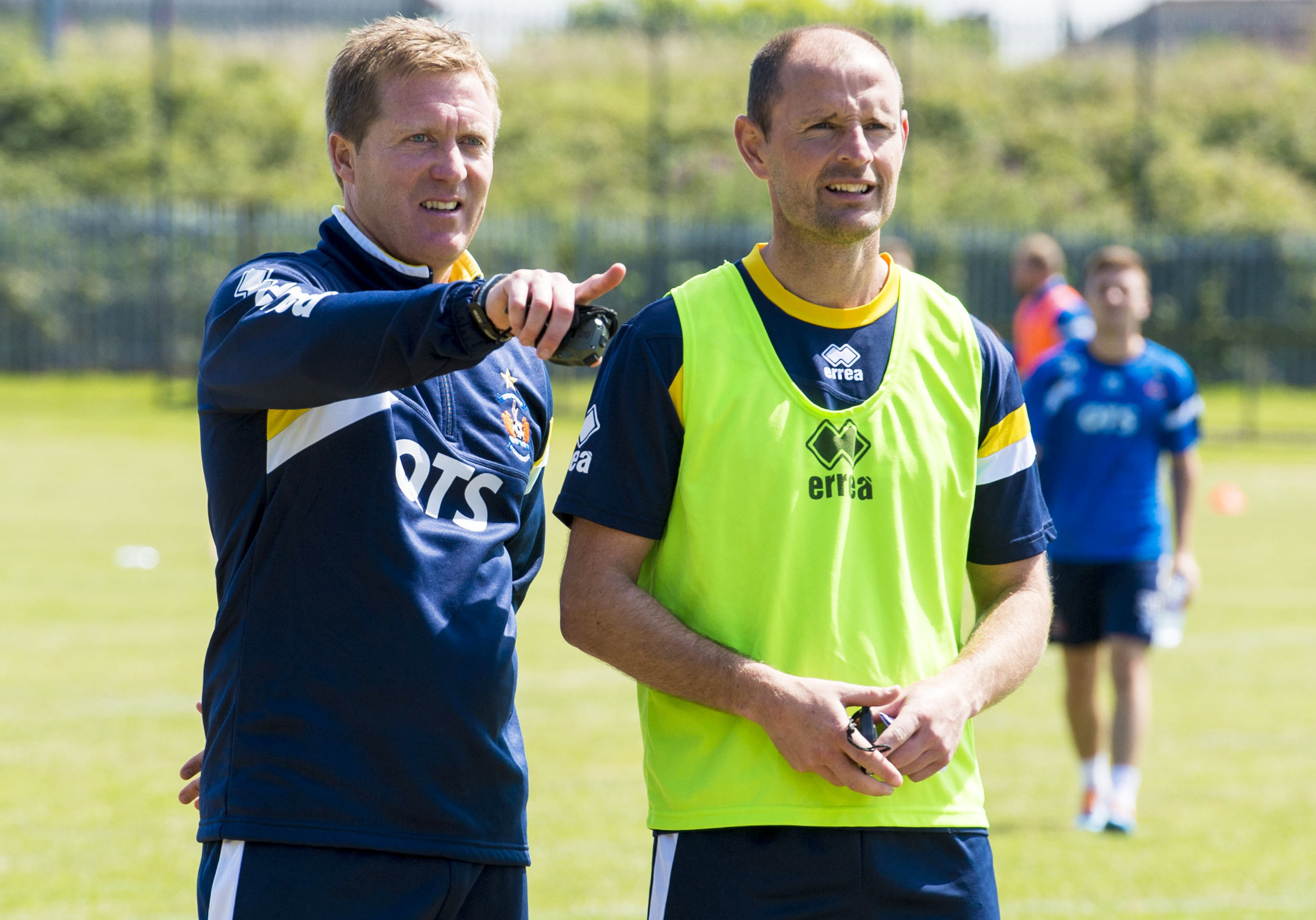 Allan Johnston and Gary Locke at Kilmarnock.