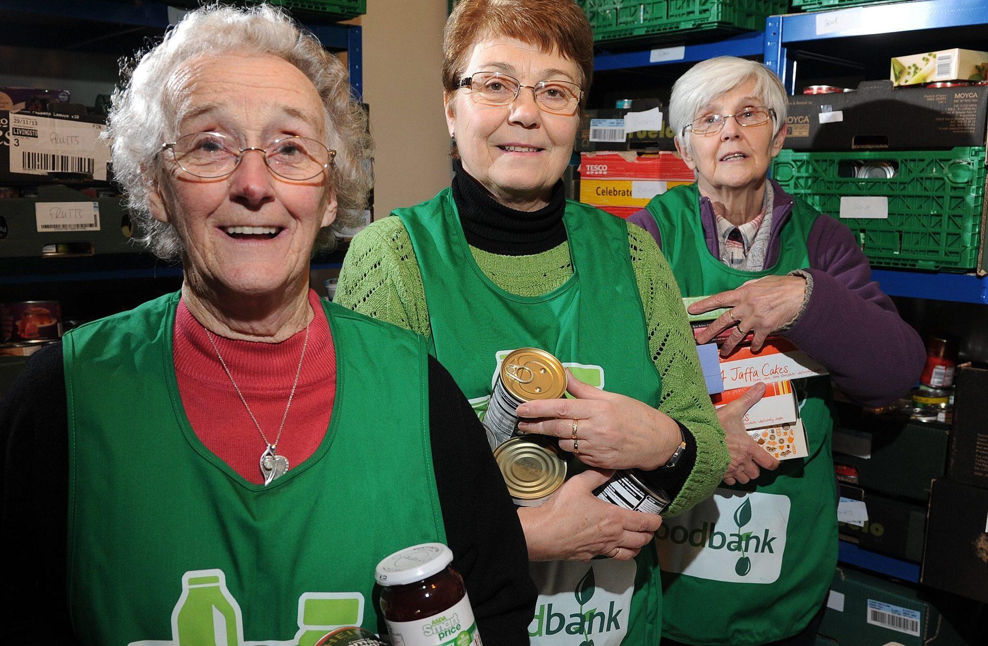 Perth foodbank volunteers.