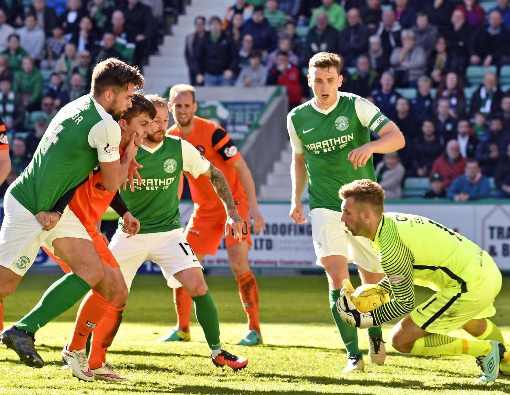Action from the Hibs game at Easter Road.
