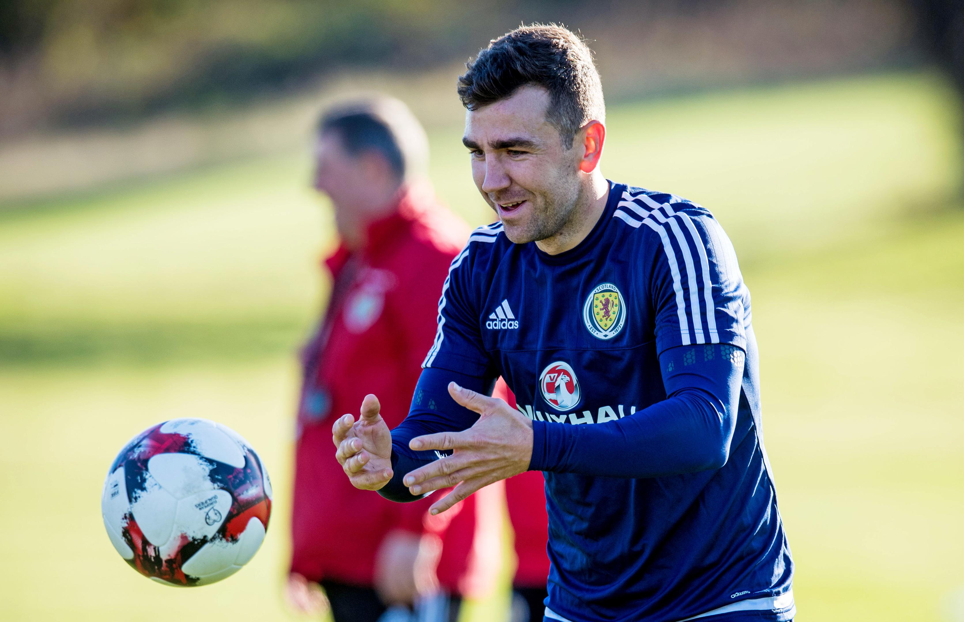 James McArthur in Scotland training.