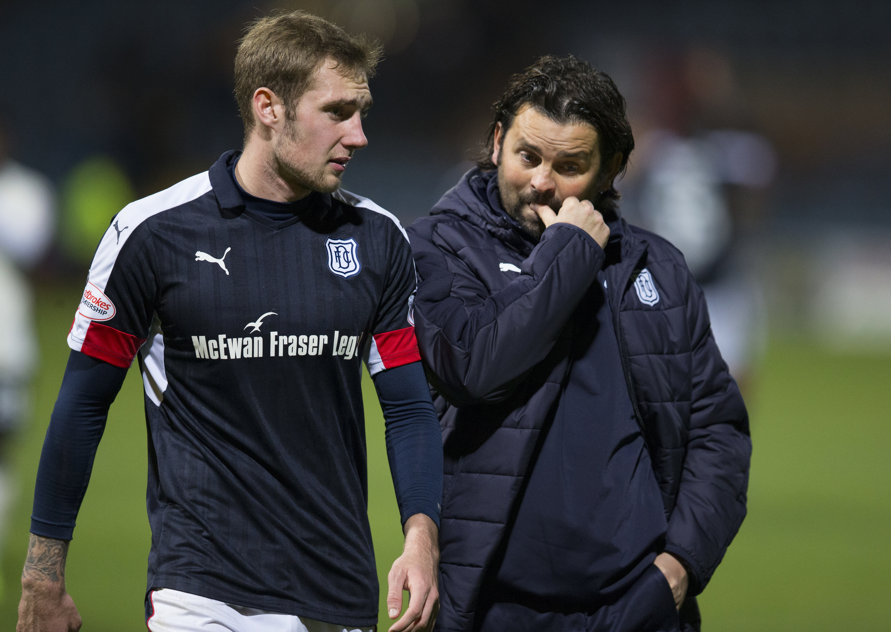 Kevin Holt with Paul Hartley.