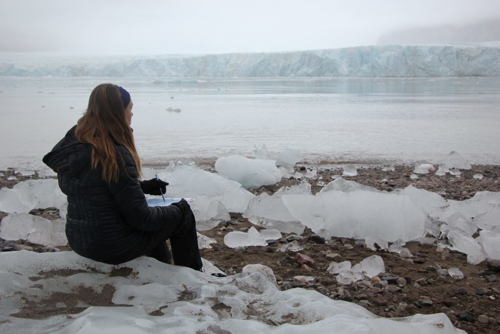 Eilis on one of her art trips.