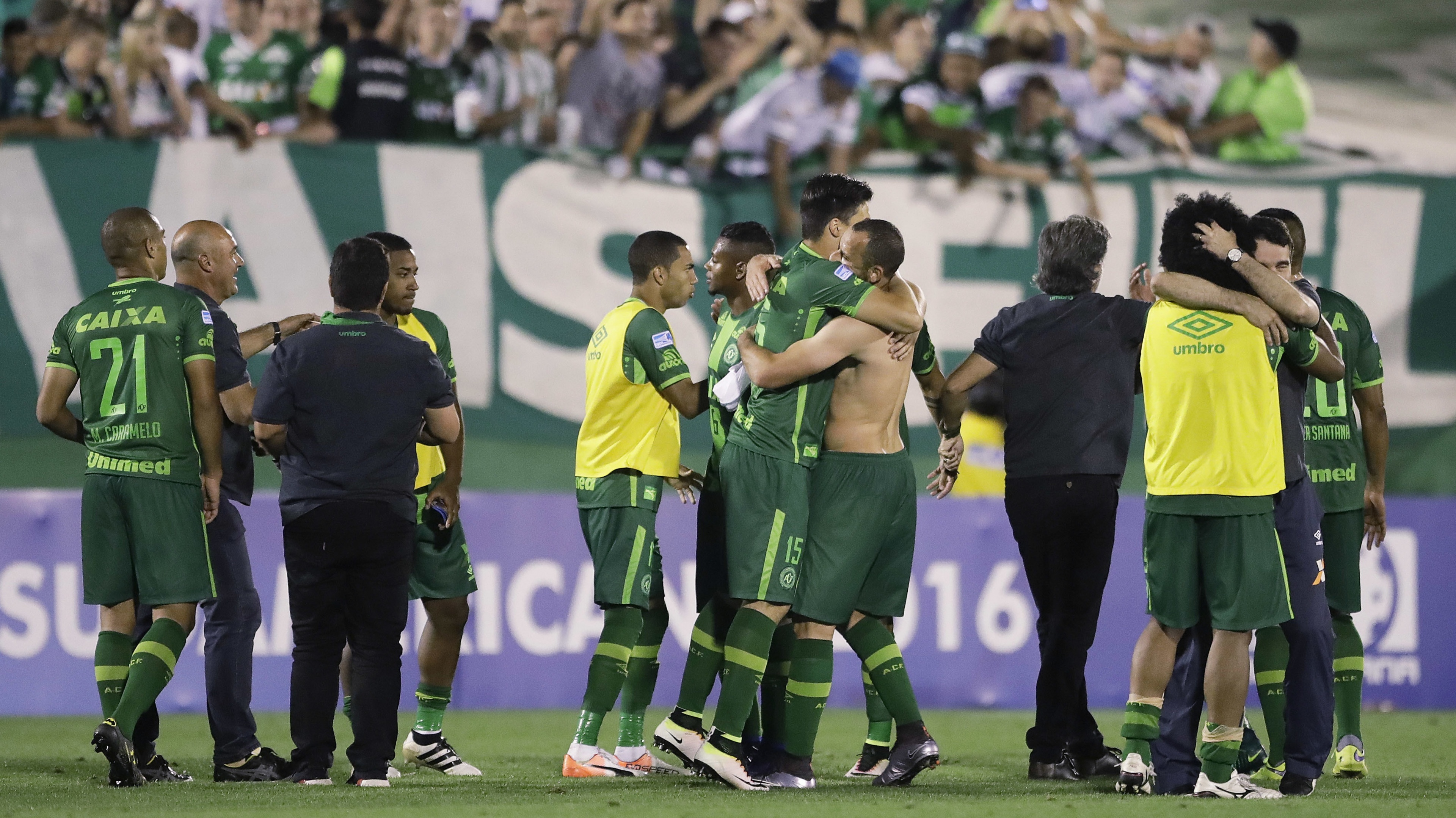 The flight was said to be carrying players from first division Chapecoense.