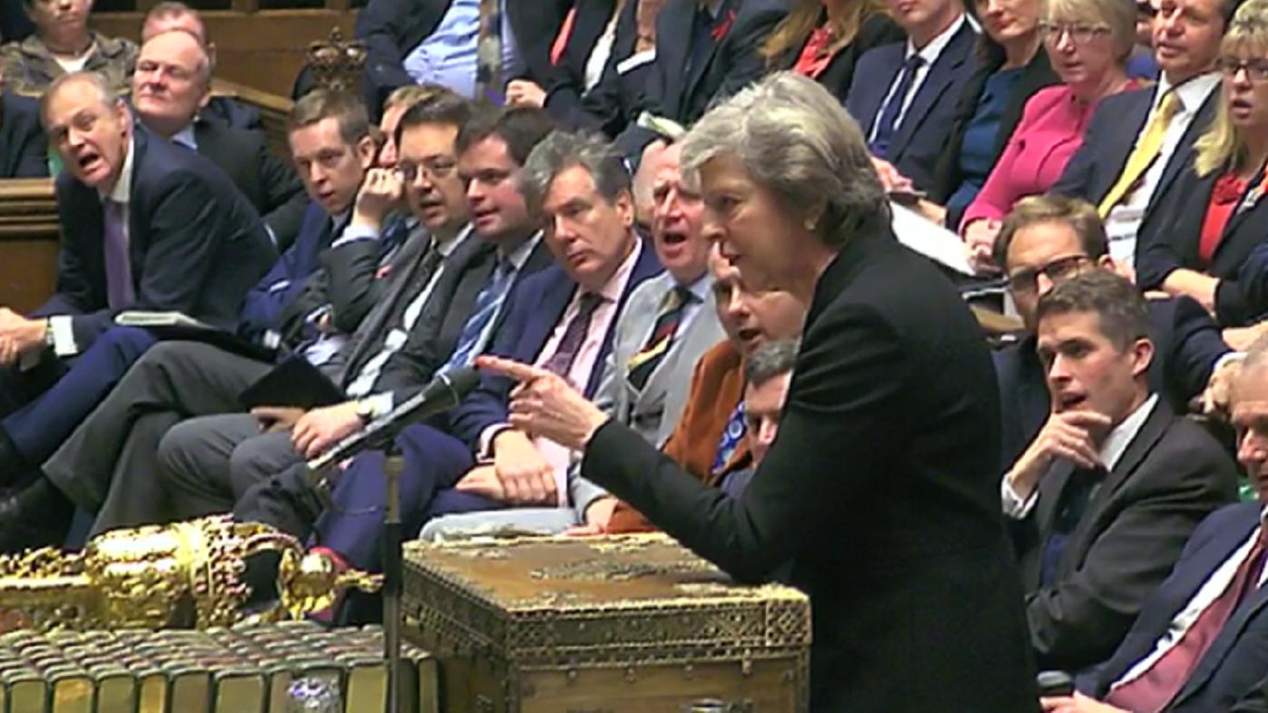 Theresa May at PMQs.