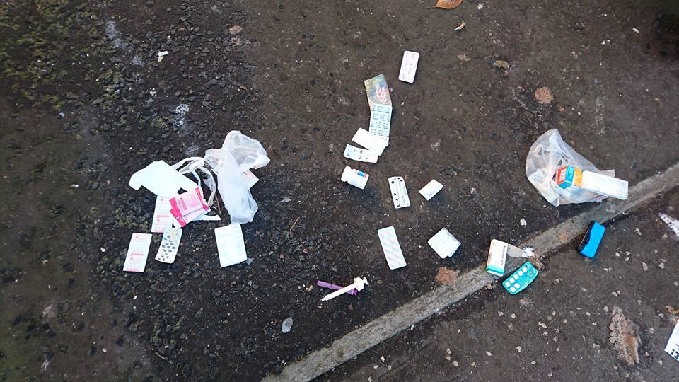 The tablets dumped in Arbroath.