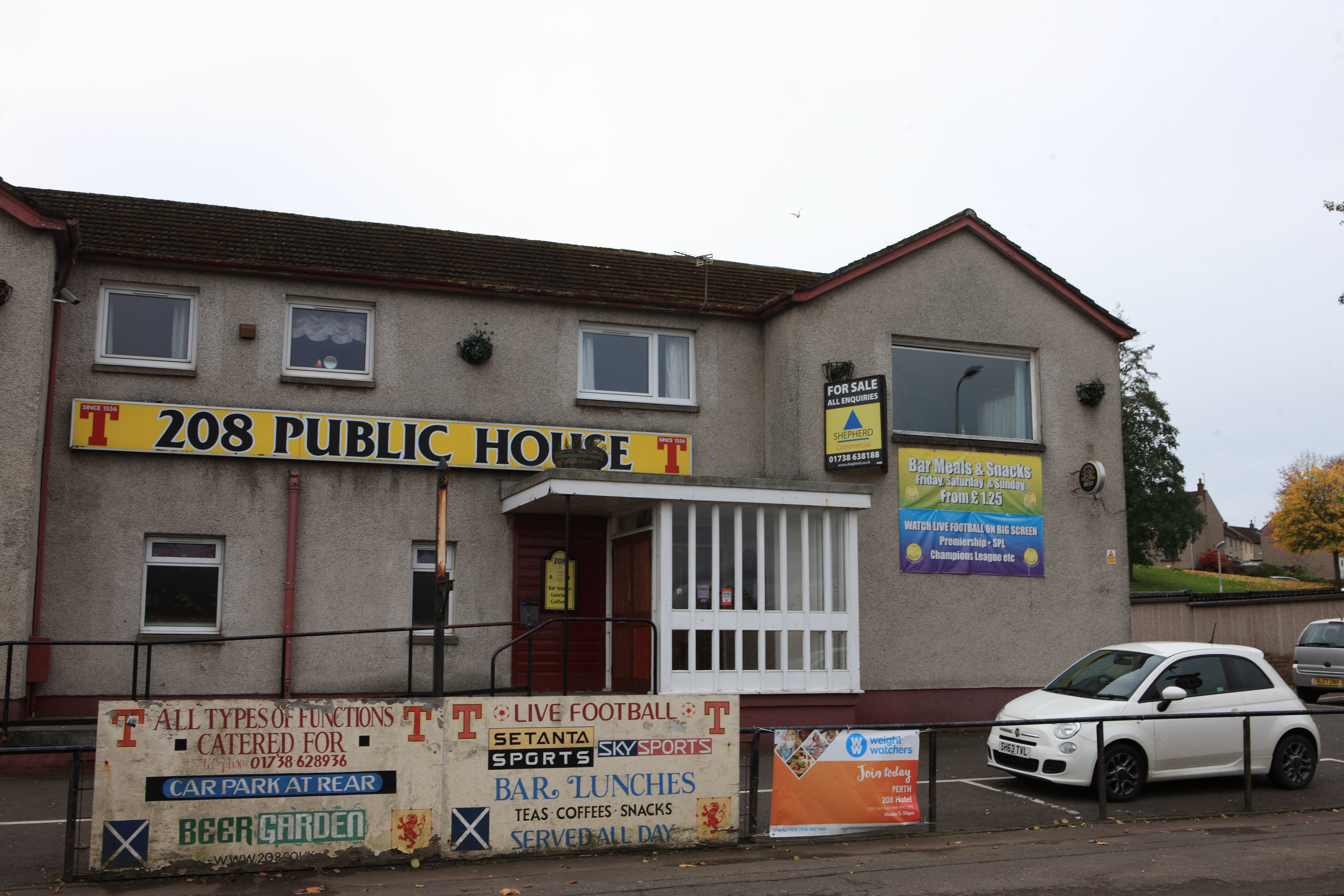 The now closed 208 pub in Crieff Road, Perth.