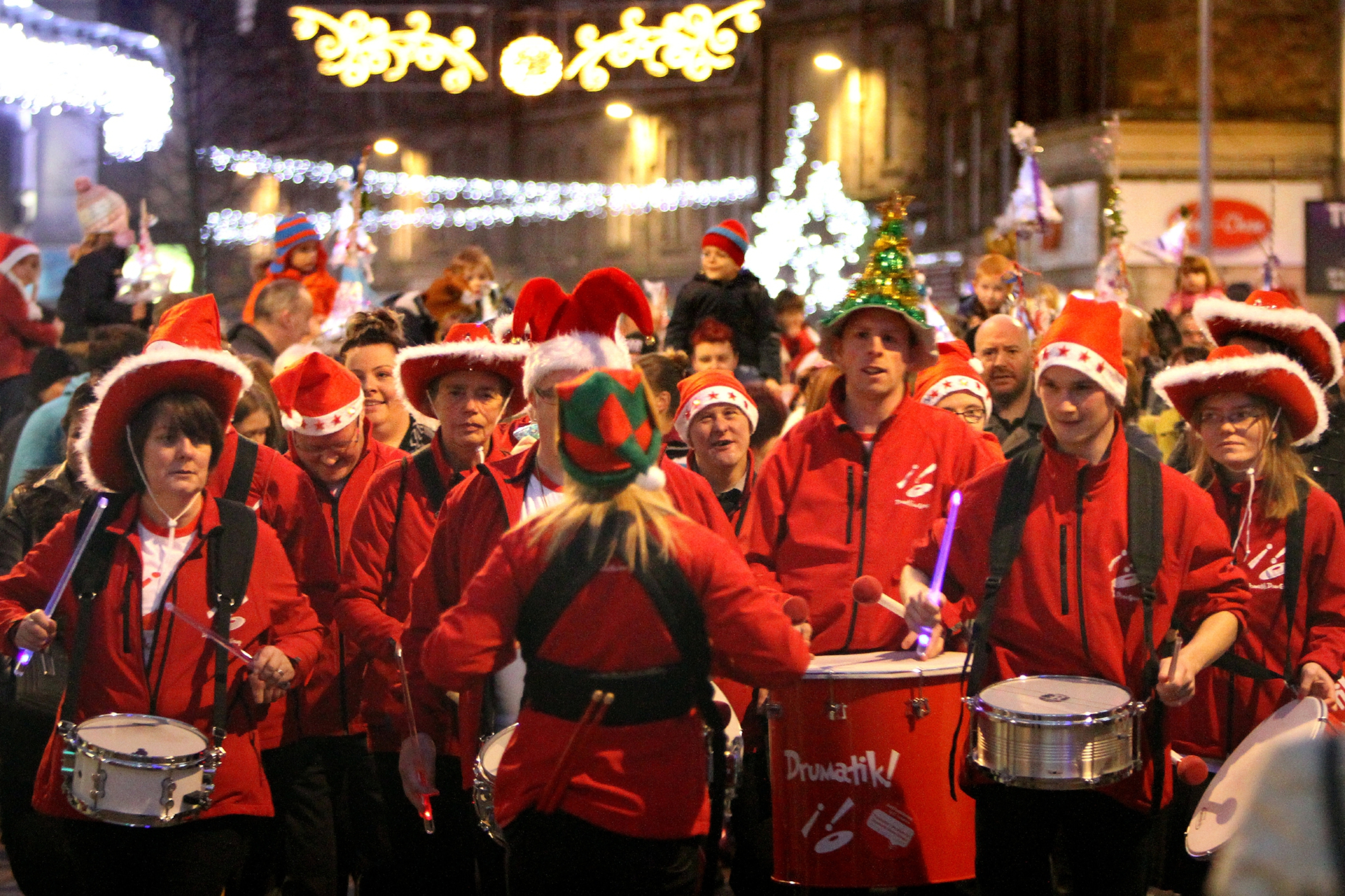 Kirkcaldy4All organised the lantern parade and Christmas lights switch-on.