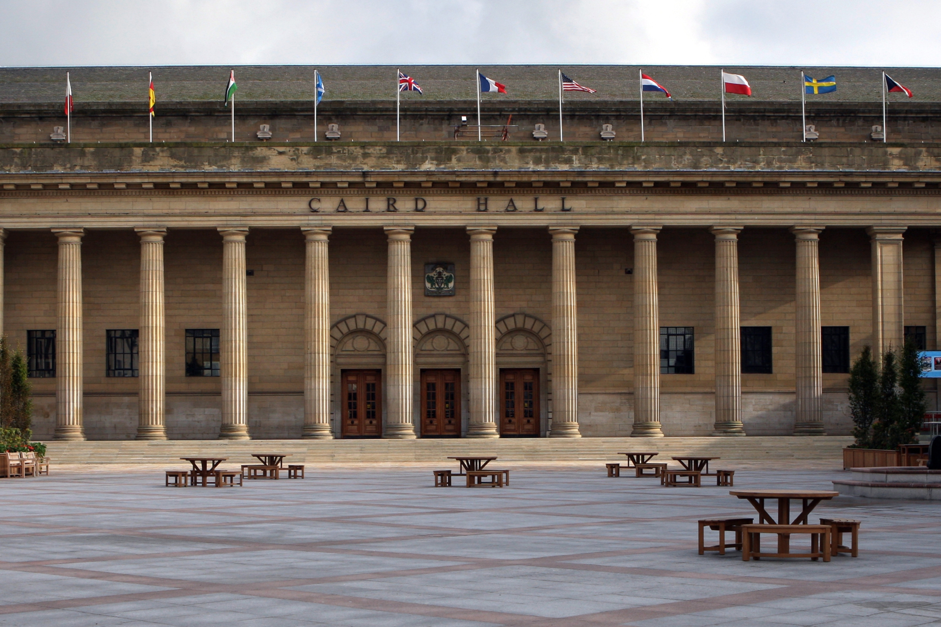 Picture shows City Square and the Caird Hall with the newly refurbished square.