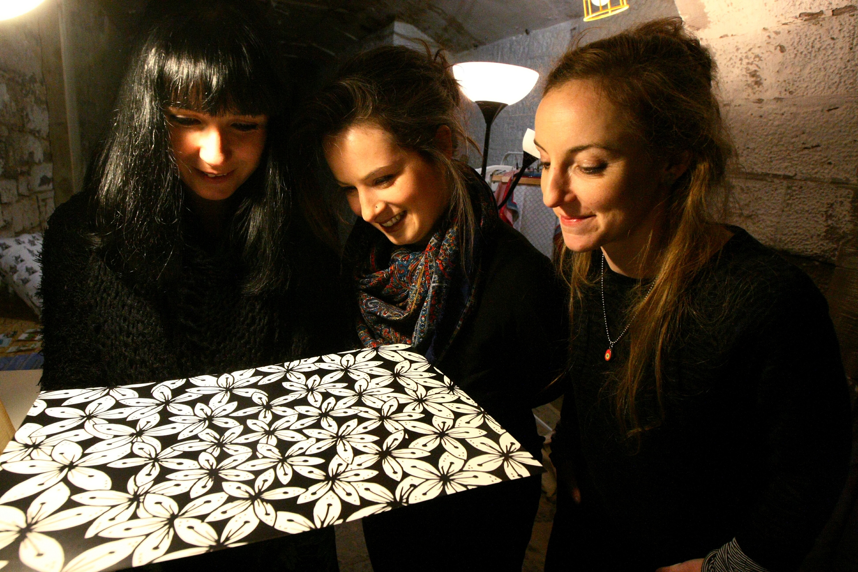 Suzanne Scott, Joanne MacFadyen and Islay Spalding in their pop-up shop in the Old Flour Mill in Dundee.