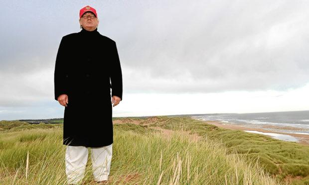 Donald Trump at his golf course at Menie near Aberdeen.