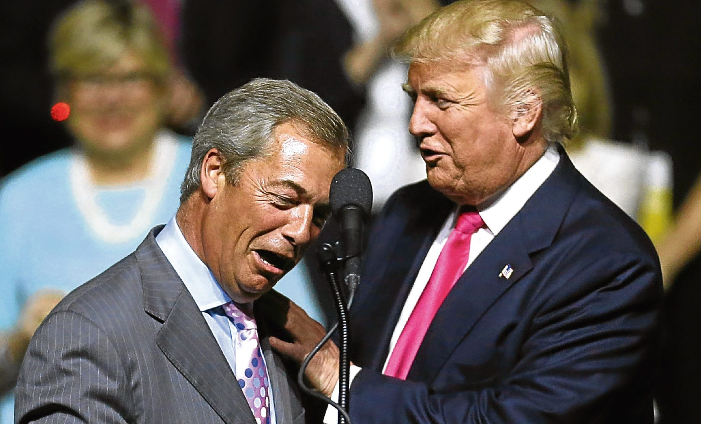 Nigel Farage spoke at a Donald Trump campaign event leading up to the Presidential election.