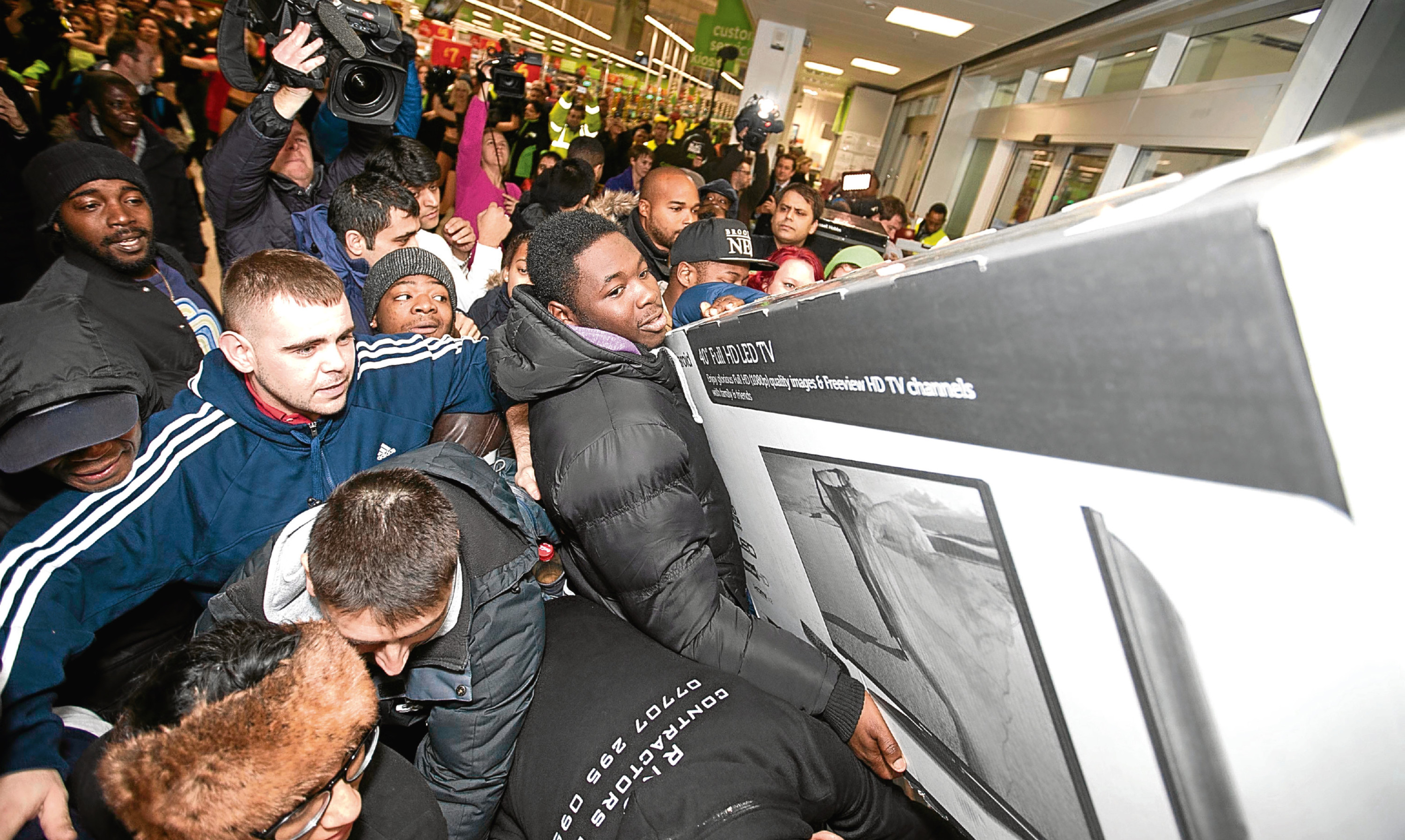 Unlike these scenes from 2014, it's fair to say the Black Friday phenomenon has frosted over on the UK high street this year.