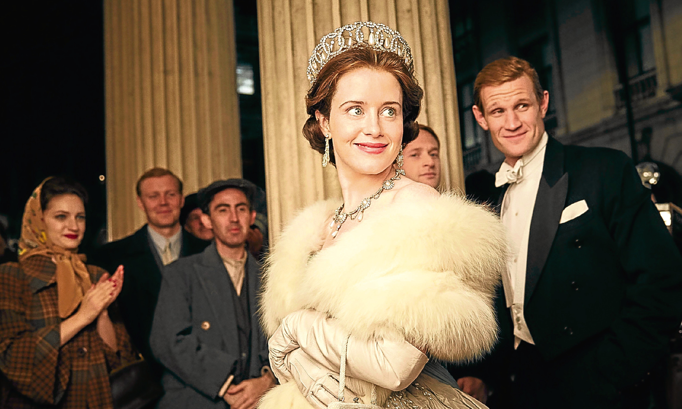 Claire Foy and Matt Smith in The Crown, which has got Lucy hooked.