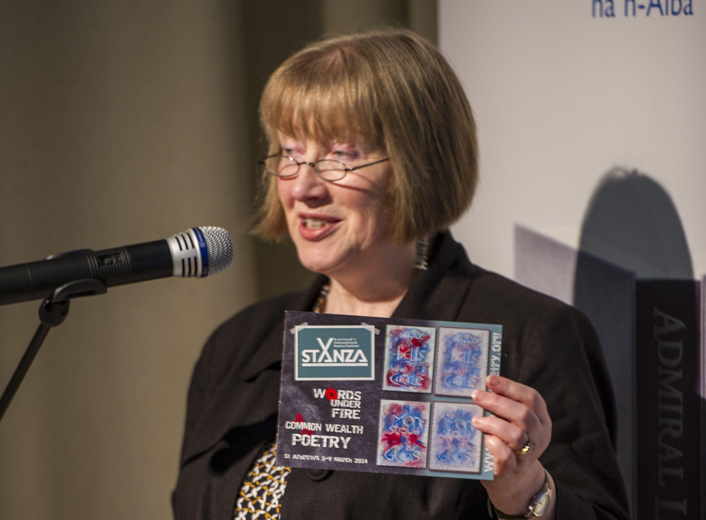 Eleanor Livingstone at an earlier StAnza brochure launch.