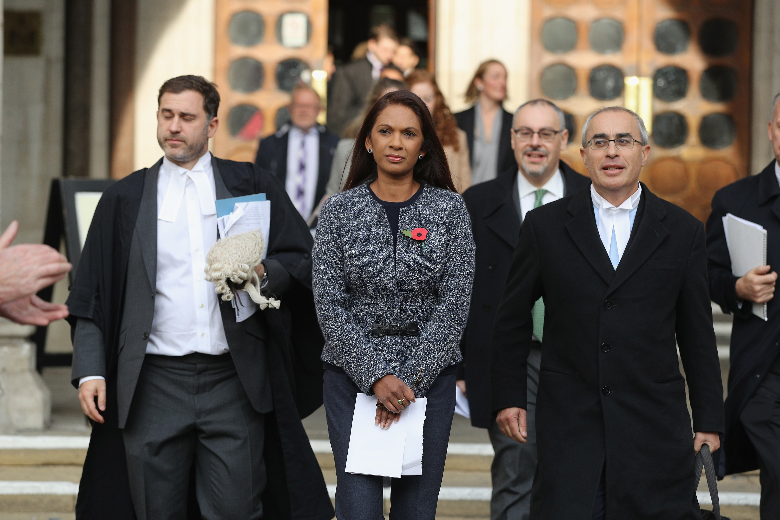 Gina Miller outside the High Court.