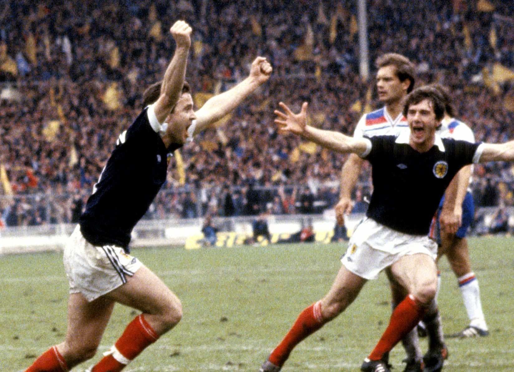 A John Robertson penalty helped Scotland beat England at Wembley in 1981.