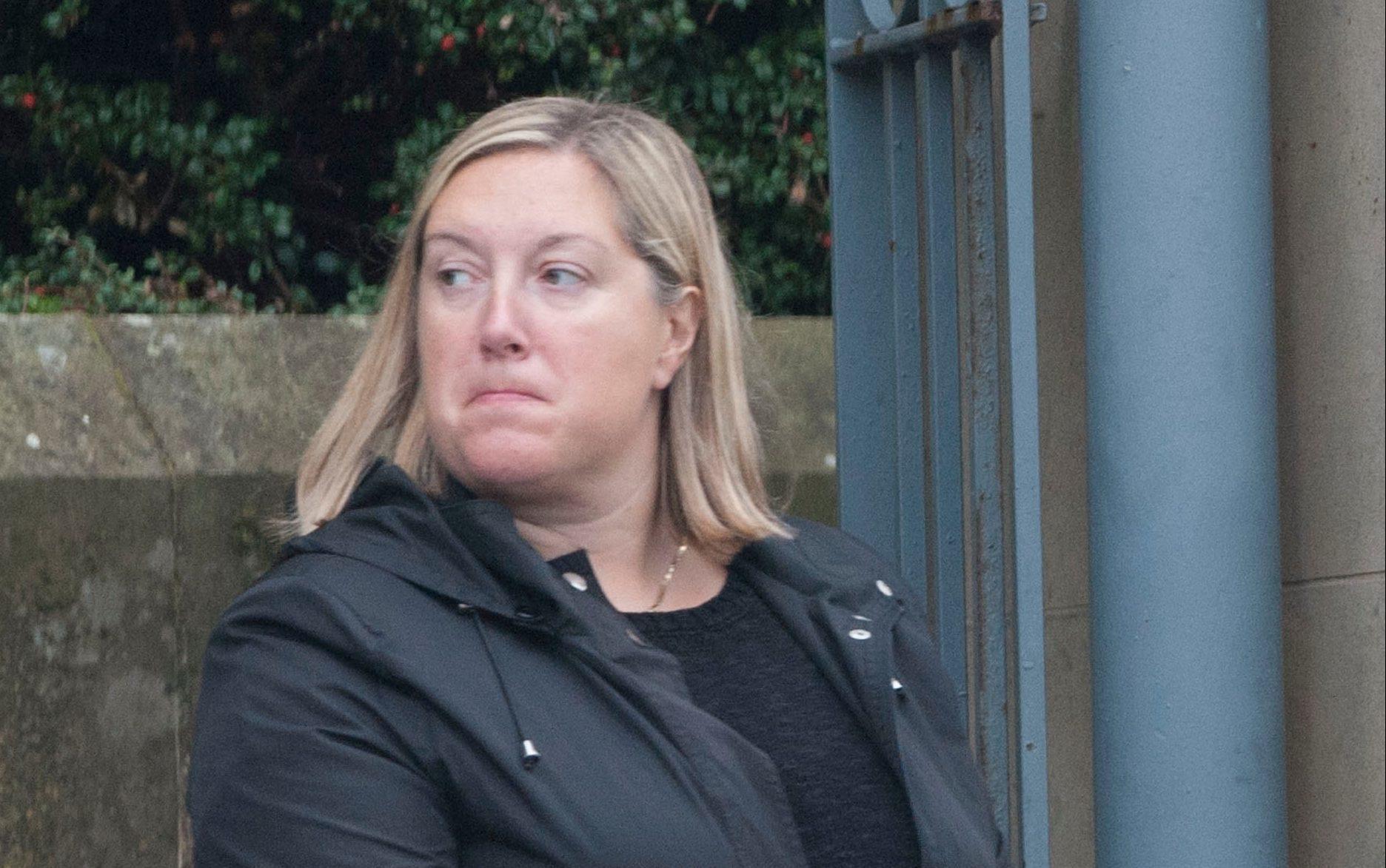 Karen Reid aka Cromar outside Dundee Sheriff Court in 2014.