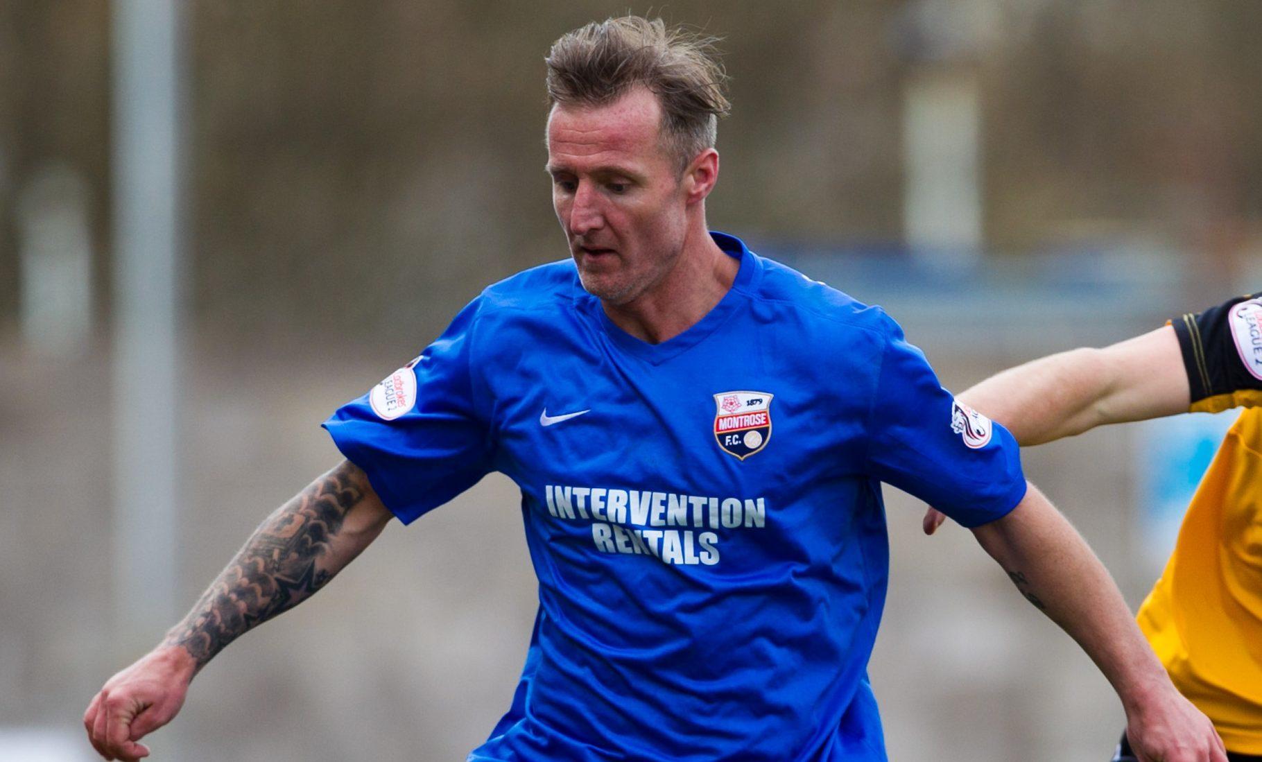 Montrose striker Gary Fraser.